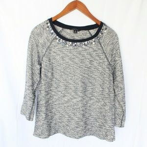 Land's End | Navy Jeweled Sweater